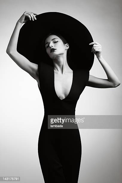 beautiful elegant woman - skinny black woman stock photos and pictures