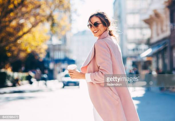 beautiful elegant woman - coat stock pictures, royalty-free photos & images