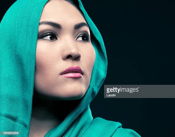 beautiful ethnic woman portrait - hot arab women stock photos and pictures