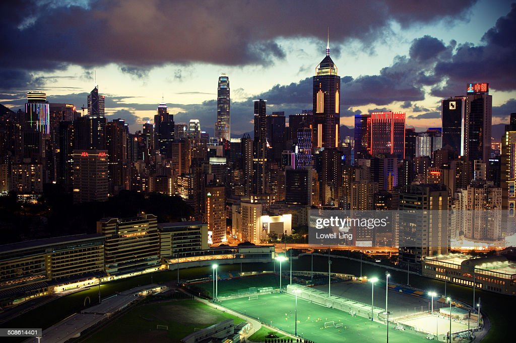 Beautiful evening at Happy Valley, Hong Kong : Stock Photo