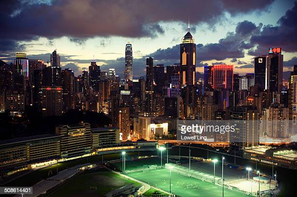 Beautiful evening at Happy Valley, Hong Kong