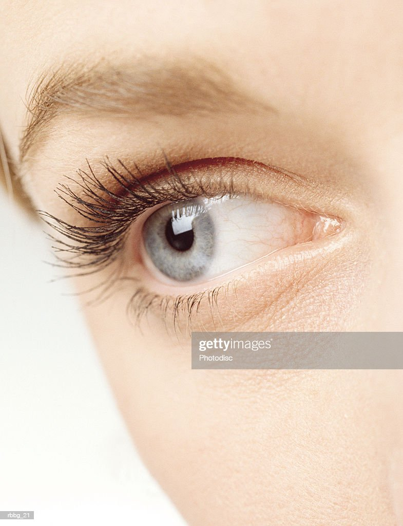 beautiful eyelashes : Stock Photo