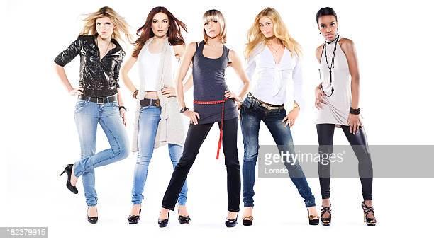 beautiful fashion models posing