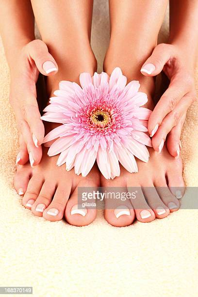 Beautiful feet and hands.