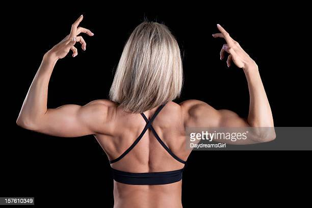 beautiful female bodybuilder series - black female bodybuilder stock photos and pictures