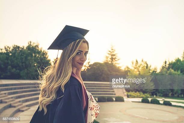 Beautiful Female College Graduate