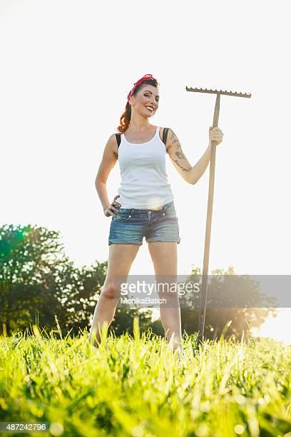Beautiful female farmer