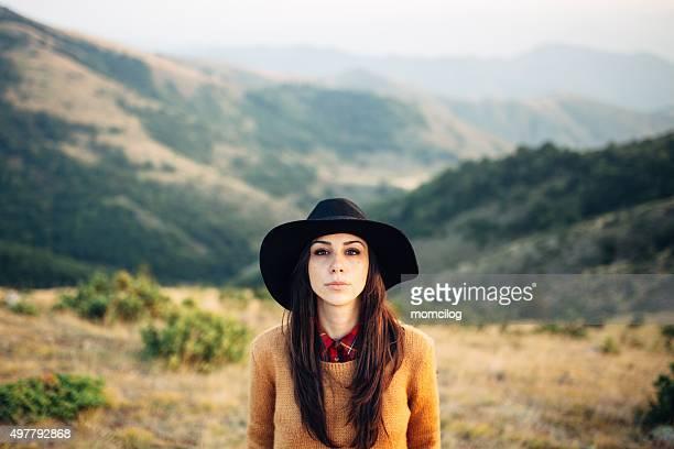 Beautiful female looking at camera