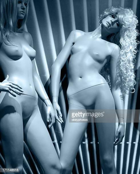 Beautiful female mannequins