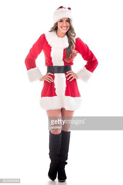 Beautiful female Santa