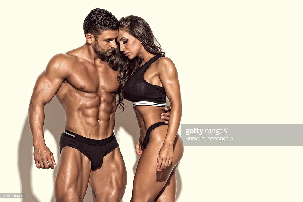 Beautiful Fit Couple : ストックフォト