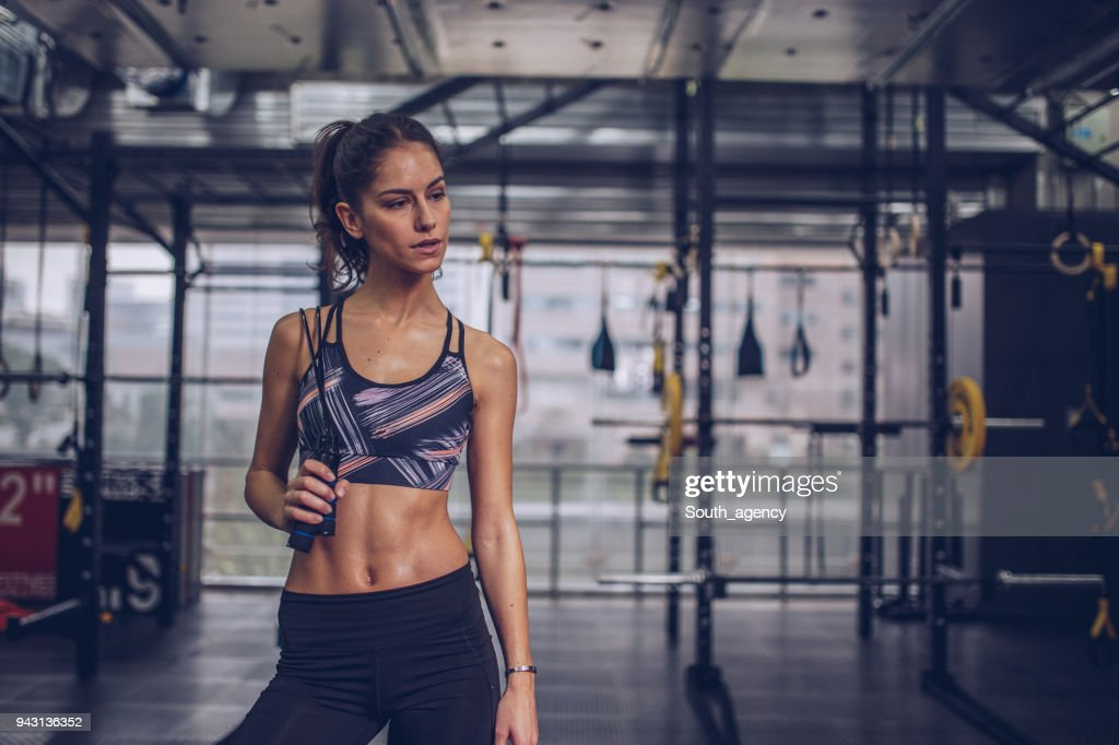 Beautiful Fit Woman In Gym High Res Stock Photo Getty Images Best value in women's fitness! getty images