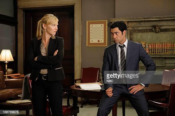 UNIT 'Beautiful Frame' Episode 1410 Pictured Kelli Giddish as Detective Amanda Rollin Danny Pino as Detective Nick Amaro