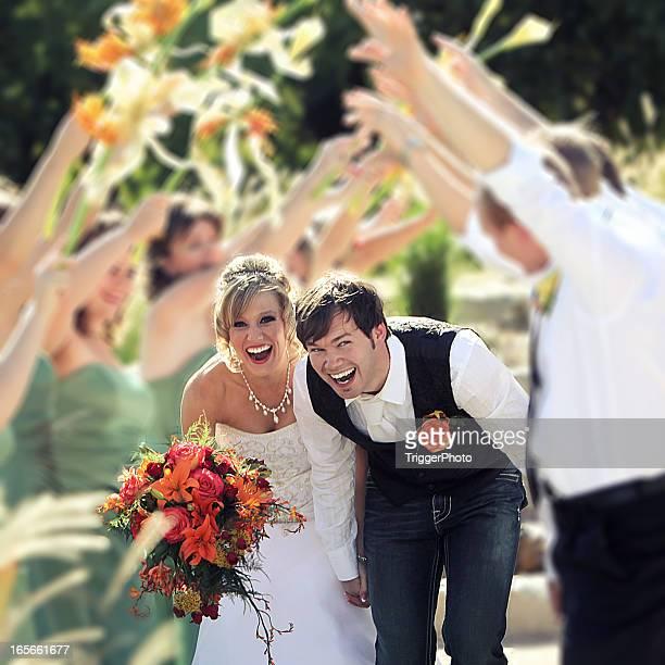Hermosa boda divertidas
