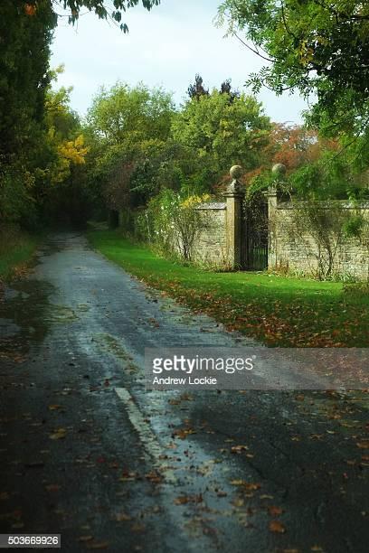 Beautiful garden gates leading into garden