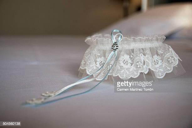 A beautiful garter belt for a bride