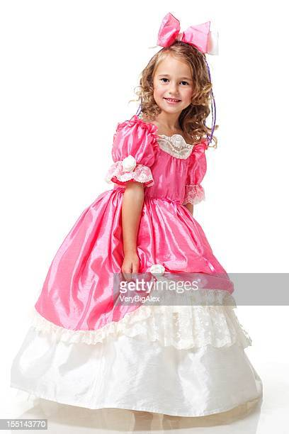 a beautiful girl dressed like a little princess - princess stock pictures, royalty-free photos & images