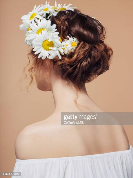 beautiful girl from the back - body paint stock pictures, royalty-free photos & images