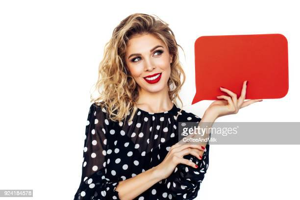 beautiful girl holding a red board - beautiful bare women stock pictures, royalty-free photos & images