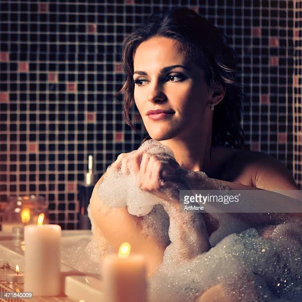 Beautiful girl in bath