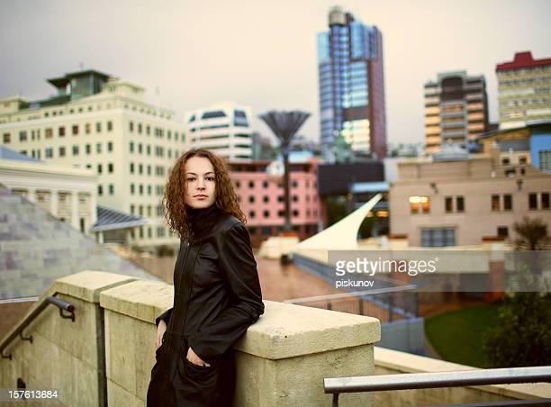 Beautiful girl in town