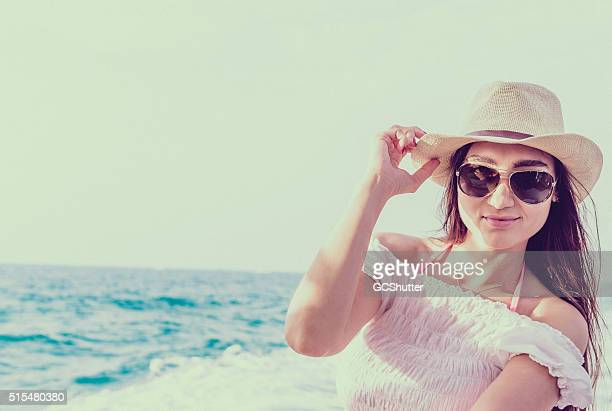 beautiful girl on a yacht - eastern european descent stock pictures, royalty-free photos & images