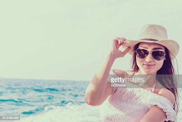 Beautiful Girl on a Yacht