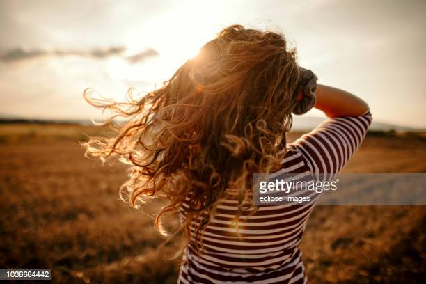 beautiful girl - wavy hair stock pictures, royalty-free photos & images