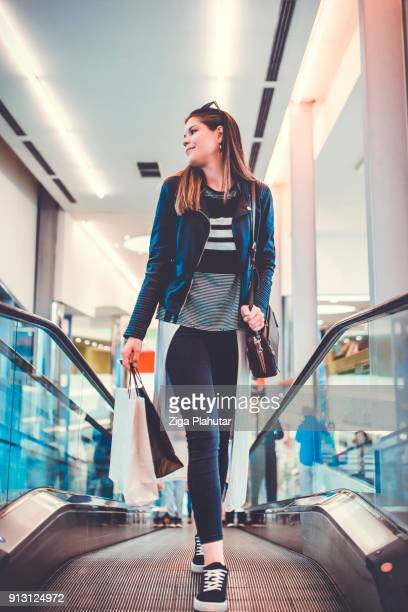 Beautiful girl shopping in the supermarket