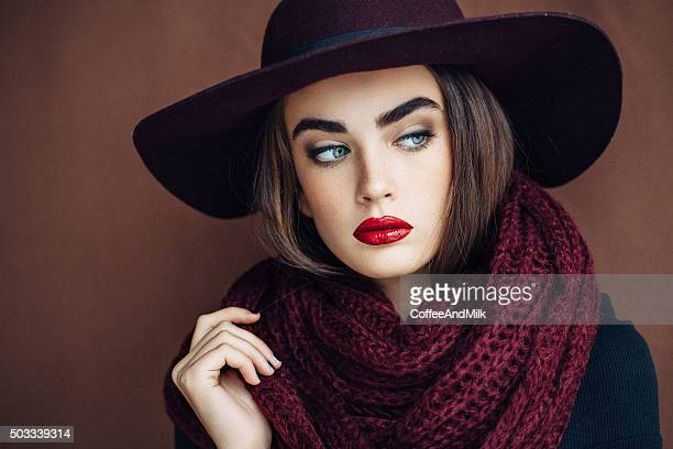 Beautiful girl wearing hat