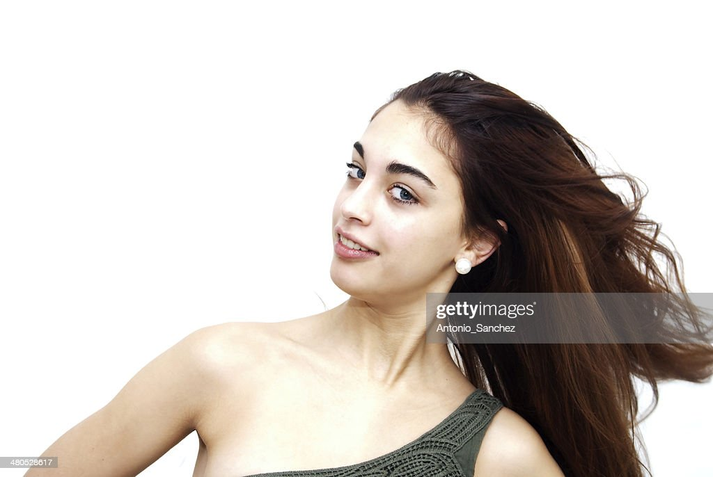 Beautiful girl with blue eyes : Stock Photo