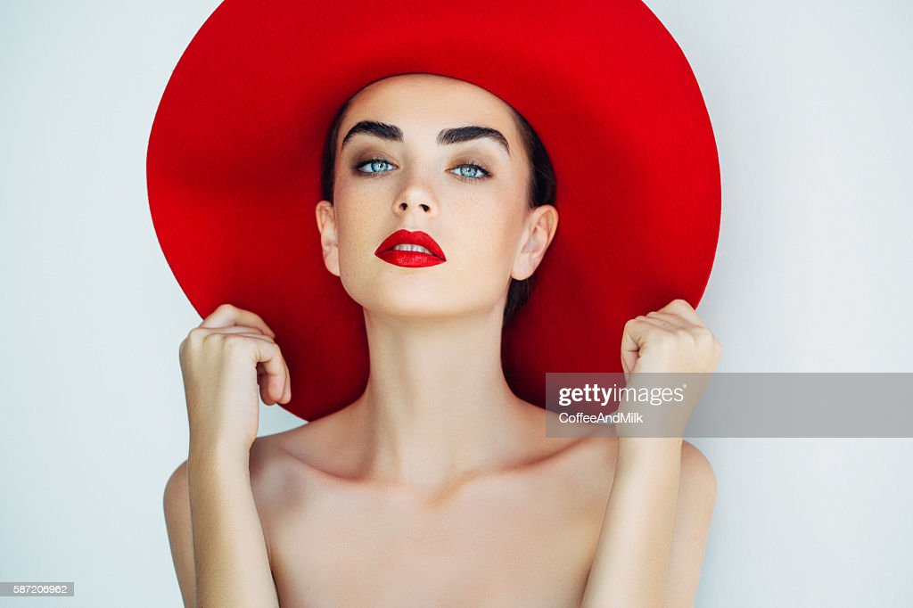 Beautiful girl with make-up : Stock Photo