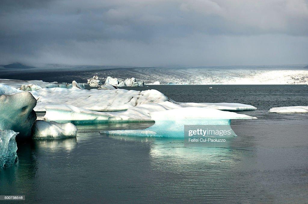 Beautiful Glacier Lagoon landscape at Jökulsarlon South of Iceland : Stock Photo