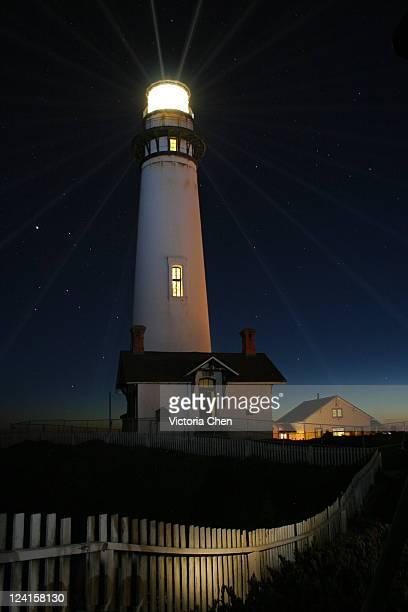Beautiful glowing lighthouse