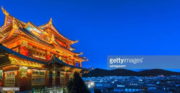 Beautiful Golden temple and biggest prayer wheel.