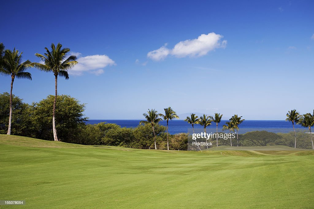 Beautiful Golf Course On Maui Hawaii High Res Stock Photo Getty Images