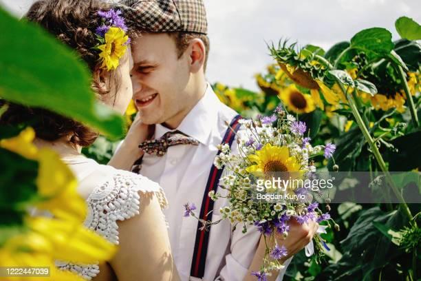 beautiful gorgeous bride stylish handsome groom