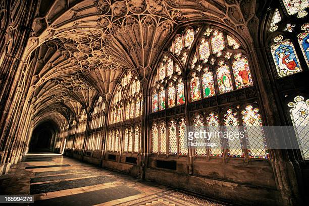 beautiful gothic - gloucester england stock pictures, royalty-free photos & images
