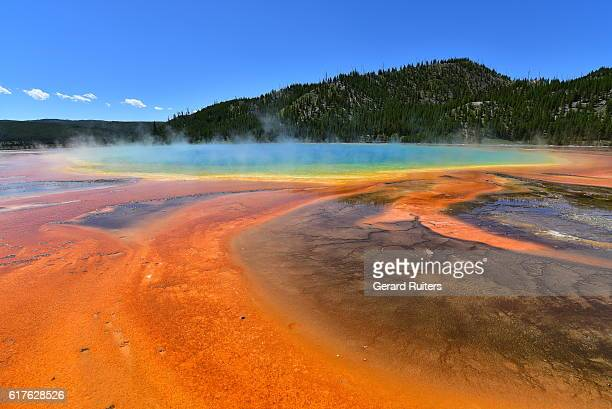 Beautiful Grand Prismatic Spring, Yellowstone National Park, Wyoming, United States
