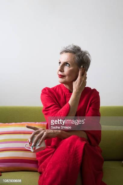 beautiful grandmother - showus stock-fotos und bilder