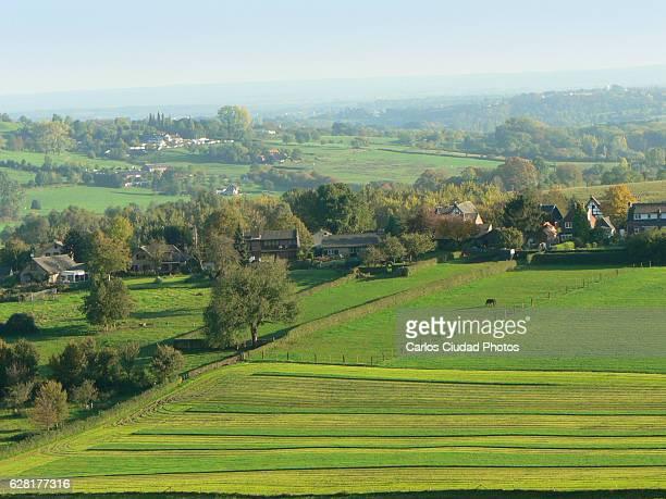 Beautiful green landscape in Limburg, Netherlands