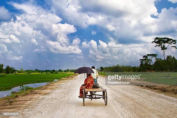 beautiful green landscape in rural bangladesh - bangladesh photos stock photos and pictures