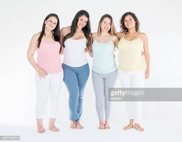 Beautiful group of pregnant women
