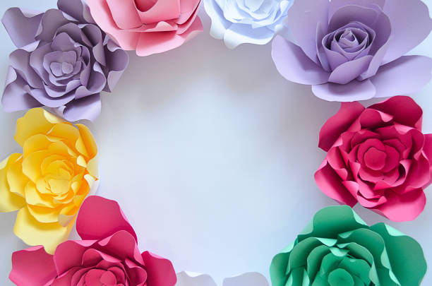 Free the circle flower images pictures and royalty free stock hands beautiful handmade origami colorful flowers places in circle shape on the white background mightylinksfo