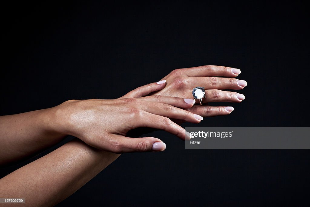 Beautiful Hands And Diamond Ring Stock Photo | Getty Images