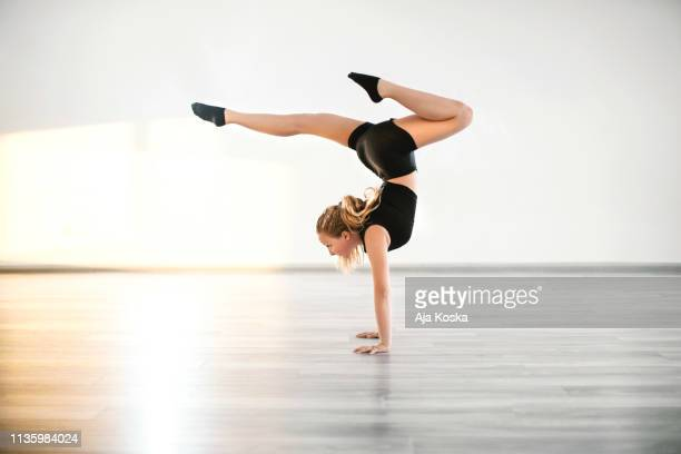beautiful handstand. - gymnastics stock pictures, royalty-free photos & images