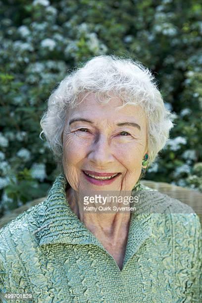 Beautiful happy smiling 86 year old senior woman