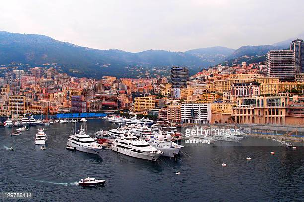 Beautiful harbour view of Monte Carlo, Monaco