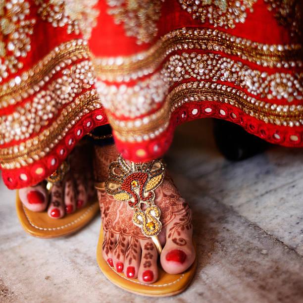 Beautiful Henna on Punjabi Bride's Feet