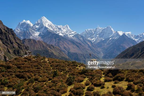Beautiful Himalayas mountain view from Thame village, Everest region, Nepal
